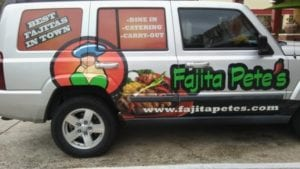 Car wrap for Fajita Pete's