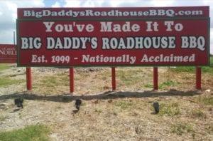 Big Daddy's Roadhouse BBQ Billboard