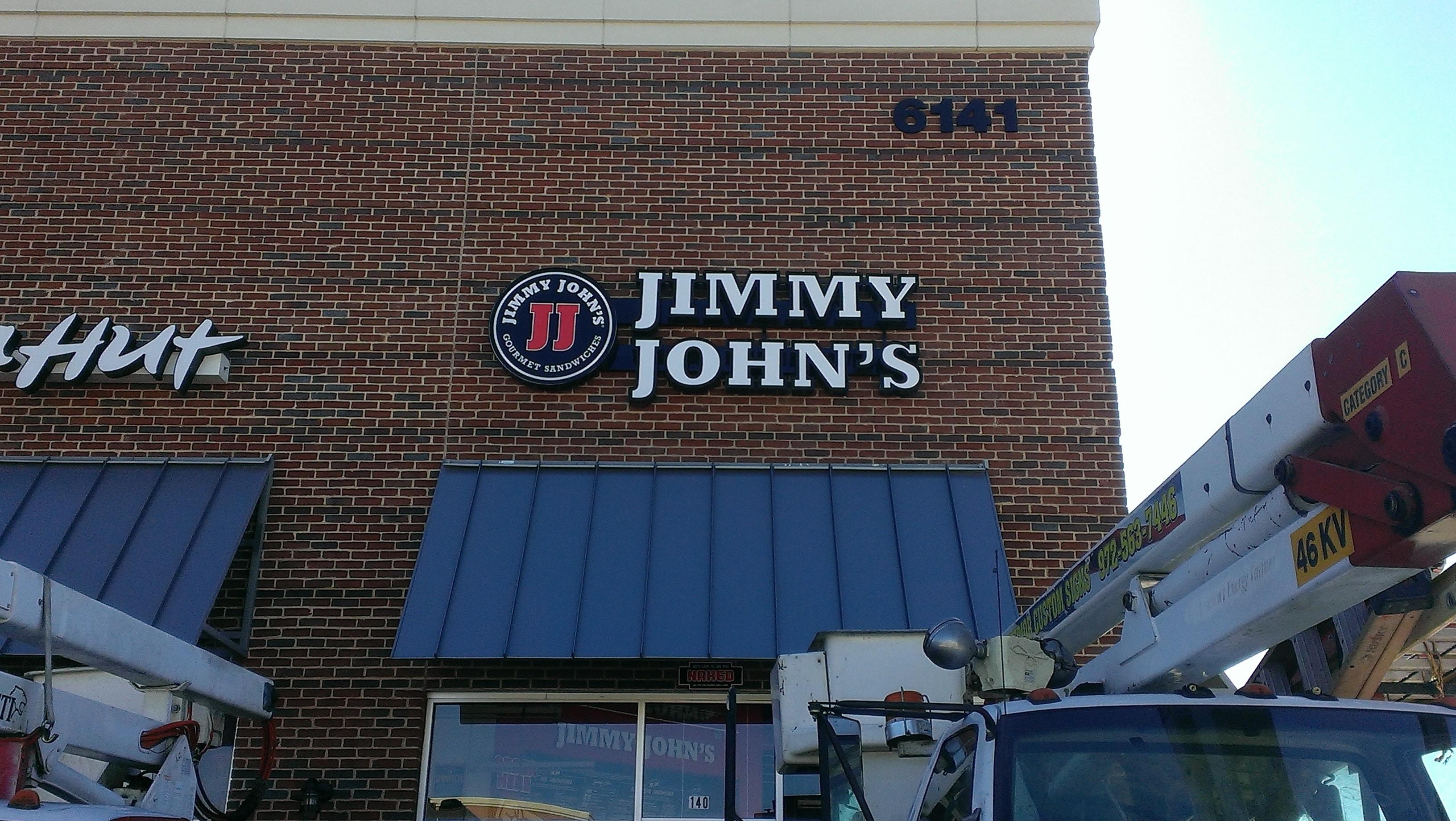 Storefront sign for Jimmy John