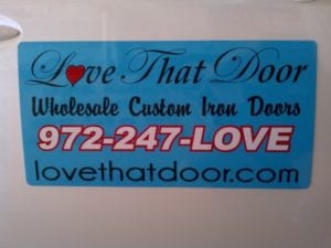 Car magnet for Love That Door