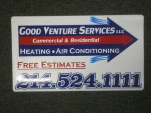 Car magnet for Good Venture Services LLC