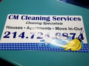 Car magnet for CM Cleaning Services